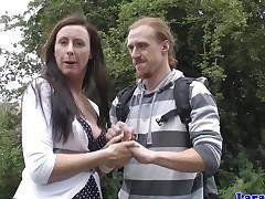 English mature wanking knicker wrapped cock
