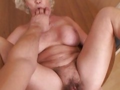 Lusty old grandma taking a hot permanent dicking in old cookie