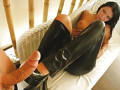 Rubber clad Chloe gets gonzo sex POV style from Pure POV