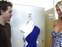 Emma Starr is procurement some help trying on clothes from their way daughter`s boyfriend. Her daughter has to leave and asks their way boyfriend if that impoverish can keep their way company. Of course that impoverish can! Emma knows they shouldn`t, but