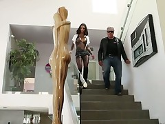 Charming minx Bonnie Rotten with big jugs just feels intense sexual desire and sucks Mark Woods snake like crazy