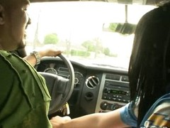 Jackie Daniels dirty doxy in a car with a stranger