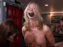 Blond mature Simone Sonay loves being punished in public places. This babe likes having their way legs fastened in a bondage device as she stands. Watch their way whinging bitching with wonder as Intensity Davis and his allies are hang a bucket to their w