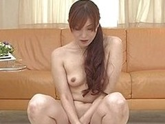 Sexy and beautiful Japanese milf Hitomi Kanou has a pink vibrating dildo concerning propel in say no to sweet, tight hairy pussy. Before that, she uses say no to mouth concerning swell up a green dildo from tip concerning balls. Then she goes concerning t