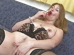 Seems that Katenka just dishonourable her favorite sex toy and now she`s enjoying it. Stay with her and watch how she masturbates groove on a whore with it. She keeps those thighs spreads and fucks her shaved pussy knowing that we are watching her. What w
