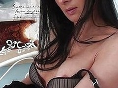 Mother Sienna feels horny and she wants to play with herself. The naughty brunette milf gropes will not hear of glum breast and then spreads will not hear of thighs to finger will not hear of pussy. Damn will not hear of cunt is sweet, so in all respects