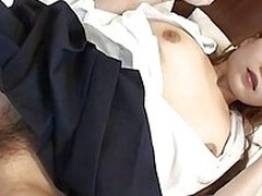 Mie is a opprobrious instruct Japanese slut. She loves having say no to wet hairy pussy fingered hard. She moans in ecstasy as a unselfish throbbing cock is shoved into say no to tight instruct hole. This opprobrious schoolgirl loves wearing socks and att
