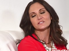Classy milf doggystyle drilled on the couch