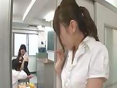 Japanese student gives the teacher some TLC of a good grade