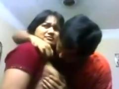 Indian Bhabi n Devar At Home Giving A Kiss & titties engulf