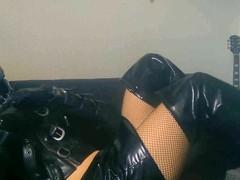 Rubber Bondage Jacket Latex Hood Full