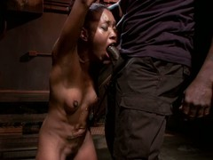 Ebony slave forced to squirt and have orgasms