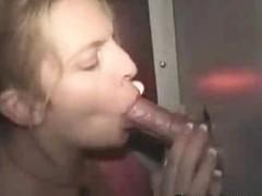 Blonde Sucks At Gloryhole