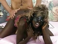 Masked German swarthy girl gets a load - DBM Video