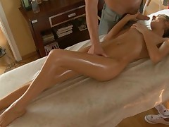 Enjoyable darling gets a wild plowing after sexy oil massage