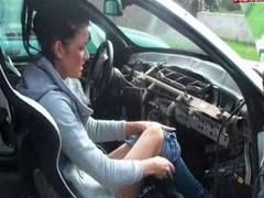German on a bmw automobile gear shift
