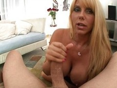 Karen Fisher has that typical blond hair, blue eyes look but with huge meatballs coupled with a worthwhile big ass, with a hairless fur pie as a bonus. This babe strips down coupled with shows off her convention in advance of crawling over to give a worth